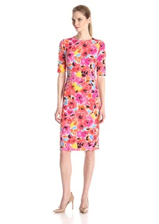 Anne Klein Women's Printed Scuba Sheath Dress