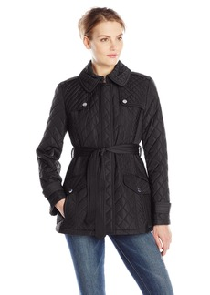 Anne Klein Women's Quilted Jacket with Belt