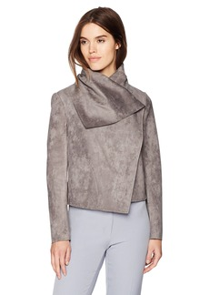 Anne Klein Women's Scuba Asymmetric Jacket