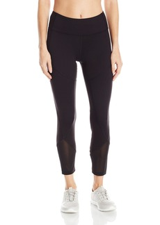 "Anne Klein Women's Seamed Crop Legging W/ Mesh Btm Panel (23"")"