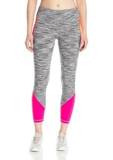 """Anne Klein Women's Seamed Performance Crop Legging W/Colorblocking (23"""")  L"""
