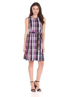 Anne Klein Women's Seersucker Plaid Dress