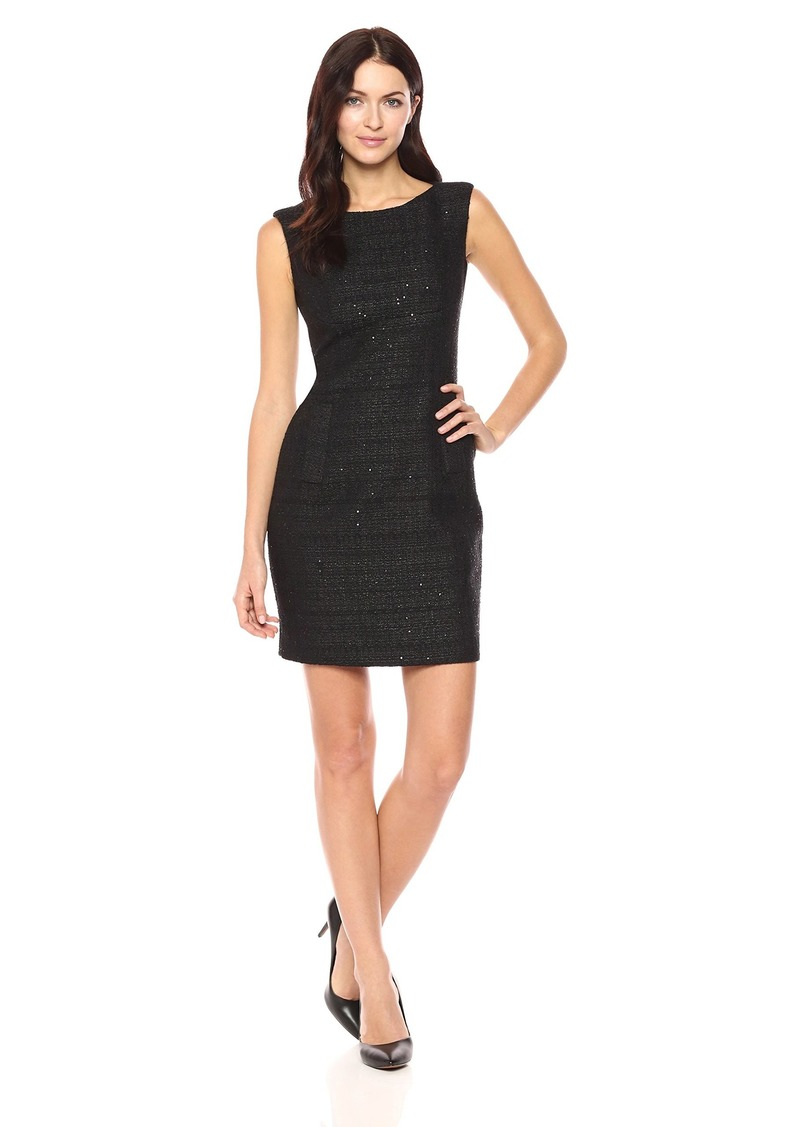 Anne Klein Women's Sequin Tweed Sheath Dress