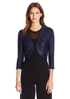 Anne Klein Women's Sequined Shrug  XL