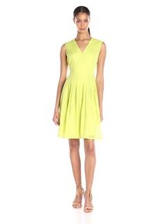 Anne Klein Women's Sheer Dotted Burnout Degas Dress