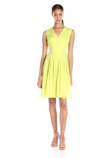 Anne Klein Women's Sheer Dotted Burnout Degas Dress Sprout