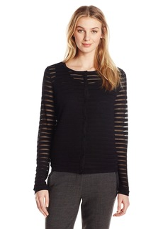 Anne Klein Women's Sheer Stripe Cardigan