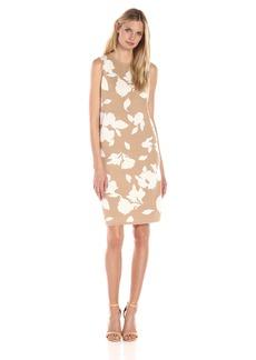 Anne Klein Women's Shift Knit Jacquard Dress