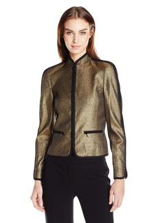 Anne Klein Women's Short Collar Zipper Jacket