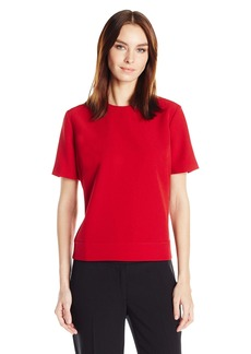 Anne Klein Women's Short Sleeve Back Button up Blouse