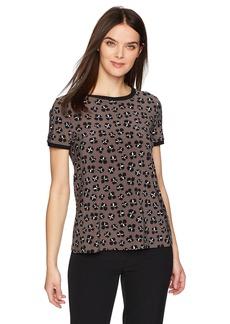 Anne Klein Women's Short-Sleeve Button-Back Top