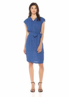 Anne Klein Women's Short Sleeve Shirt Dress  S