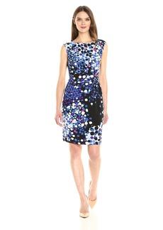 Anne Klein Women's Side Twist Printed Matte Jersey Dress