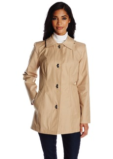 Anne Klein Women's Single Breasted Trench Coat Clasp Closure