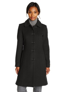 Anne Klein Women's Single Breasted Wool Cashmere Coat