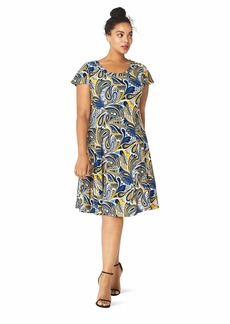 Anne Klein Women's Size Plus Cap Sleeve FIR and Flare Dress  1X