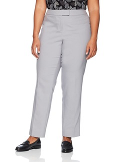 Anne Klein Women's Size Plus Cotton Double Weave Slim Pant
