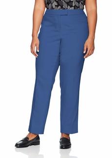 Anne Klein Women's Size Plus Cotton Double Weave Slim Pant rain Shadow