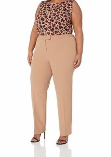 Anne Klein Women's Size Plus Crepe Slim Pant  W