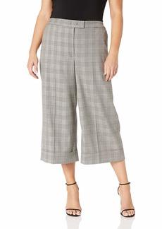 Anne Klein Women's Size Plus Cuffed Culotte Pants