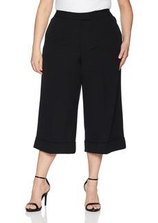 Anne Klein Women's Size Plus Cuffed Culottes  W