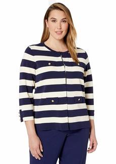Anne Klein Women's Size Plus Four Pocket Cardigan
