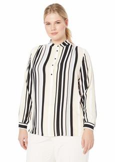 Anne Klein Women's Size Plus Long Sleeve Blouse