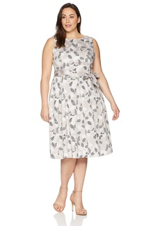 Anne Klein Women's Size Plus Pleated Cotton FIT & Flare