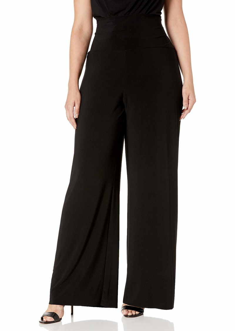 Anne Klein Women's Size Plus Pullon Knit Wide Leg Pant