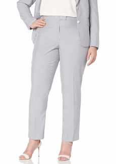 Anne Klein Women's Size Plus Seersucker Slim Pant  W