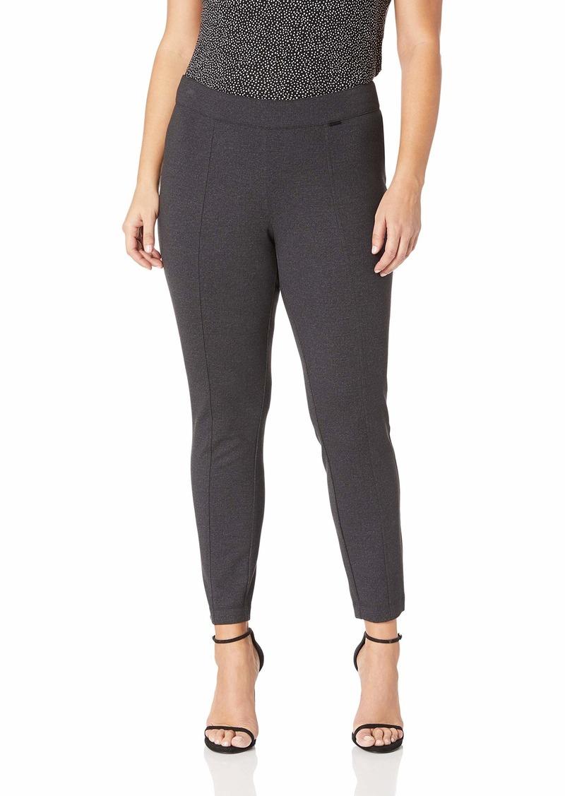 Anne Klein Women's Size Plus Slim Compression Pant