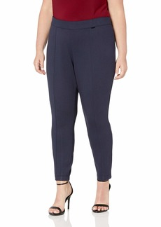 Anne Klein Women's Size Plus Slim Compression Pant Gauguin/Anne Black