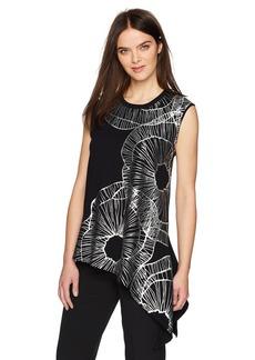 Anne Klein Women's Sleeveless Asymmetric Hem Sweater
