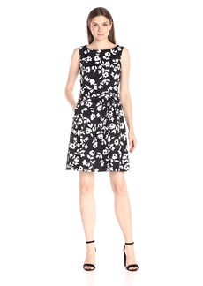 Anne Klein Women's Sleeveless Printed Fit-and-Flare Dress
