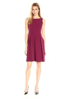 Anne Klein Women's Sleeveless Inset Waist Full Skirt Sheath