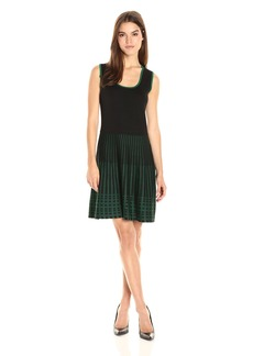 Anne Klein Women's Sleeveless Knit Fit and Flare Dress  L