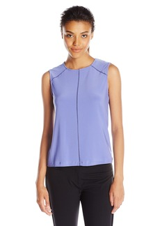 Anne Klein Women's Sleeveless Knit Top with Fagotting