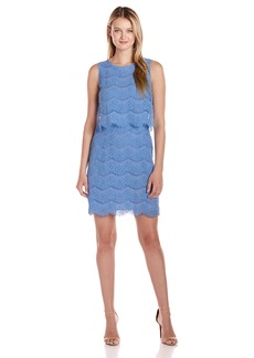 Anne Klein Women's Sleeveless Lace Popover Dress