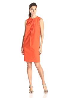 Anne Klein Women's Sleeveless Pleat Front Shift Dress