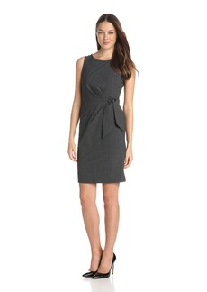 Anne Klein Women's Sleeveless Suit Dress with Asymmetrical Tie