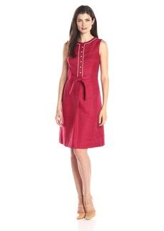 Anne Klein Women's Sleeveless Tie Front A-Line Dress