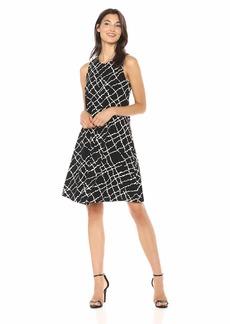 Anne Klein Women's Sleeveless U-Neck Swing Dress  S