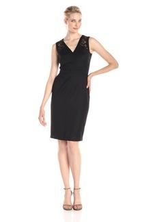 Anne Klein Women's Sleeveless V Neck Lace Cocktail Dress