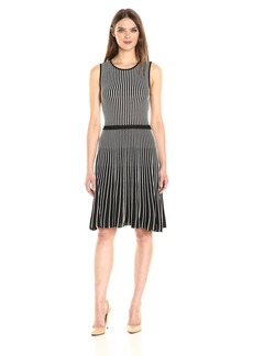 Anne Klein Women's Sleeveless Vertical Stripe Knit Dress  XL