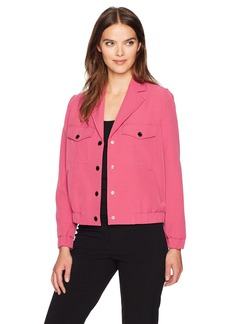 Anne Klein Women's Snap Button Collared Jacket