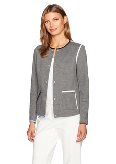 Anne Klein Women's Snap Button One Pocket Jacket