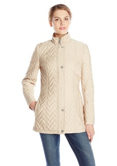 Anne Klein Women's Snap Front Quilted Jacket