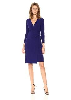 Anne Klein Women's Solid Faux Wrap Dress