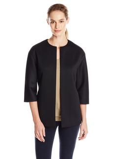Anne Klein Women's Solid Scuba Jacket