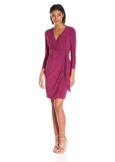 Anne Klein Women's Solid Wrap Dress